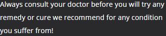 Medicinal Caution